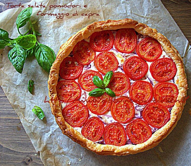 Tomato + Goat Cheese Tart.   Food   Pinterest