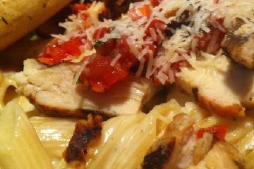 Three Cheese Chicken Penne Pasta Bake | Food | Pinterest