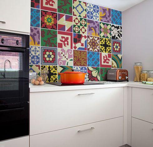 Adesivo de Azulejo modelo Azulejos Hidráulicos, by istickonline.com