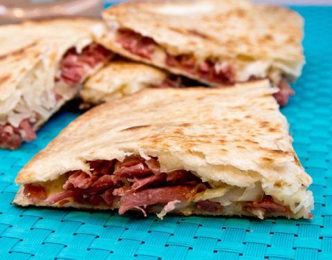Reuben Quesadillas   Food, Glorious food.   Pinterest
