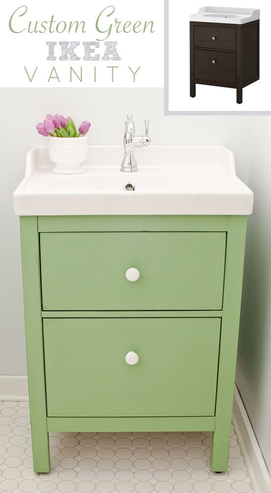 Ikea Folding Table With Drawers ~ Custom green HEMNES RÄTTVIKEN sink cabinet