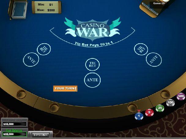 play casino war online for money