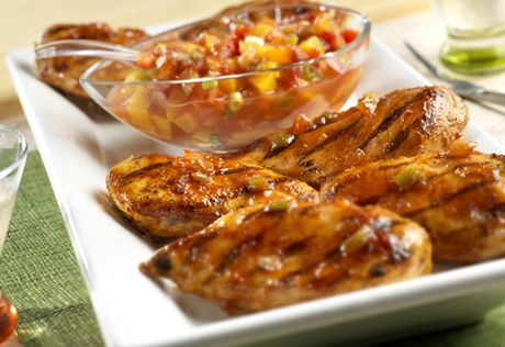 with Picante Peach Salsa Jazzed-up chicken sports a sweet-and-spicy ...