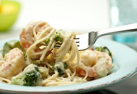 Creamy Shrimp And Broccoli Fettuccine Recipe — Dishmaps