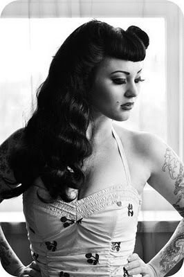 Bettie bangs vintage hair ( i used to love this style soo much! )