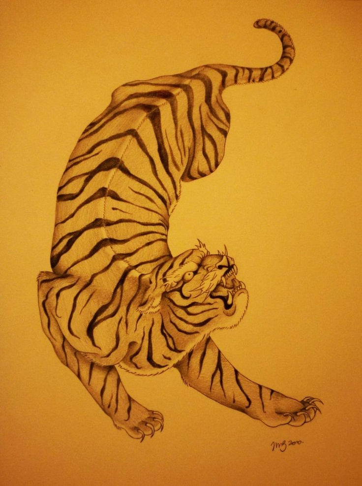 japanese tiger design | Tattoo | Pinterest