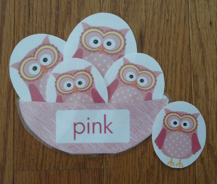 Owl Color Match - Great for color identification and exploring early math skills and fun idea for a busy bag