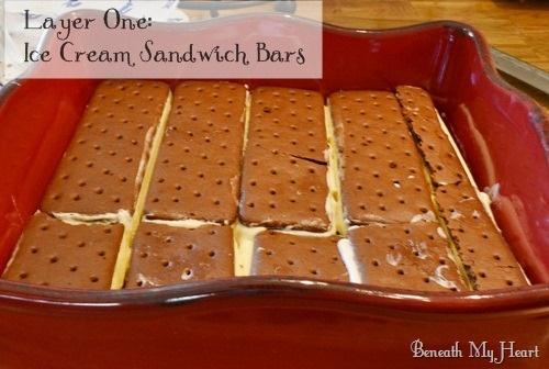 Frozen Caramel- Toffee Ice Cream Sandwich Dessert Recipe ...