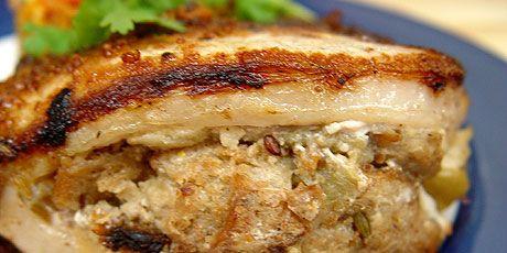 Apple Stuffed Pork Chops | recipes | Pinterest