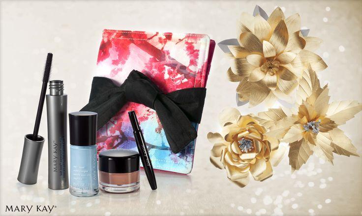 Kit Jardim Oriental: Esmalte para as Unhas Lotus Zen in Bloom + Brilho Labial Chai Latte Zen in Bloom + Máscara para os Cílios Lash Love à Prova D'Água. E ainda vem com uma nècessaire Kimono linda! ♥