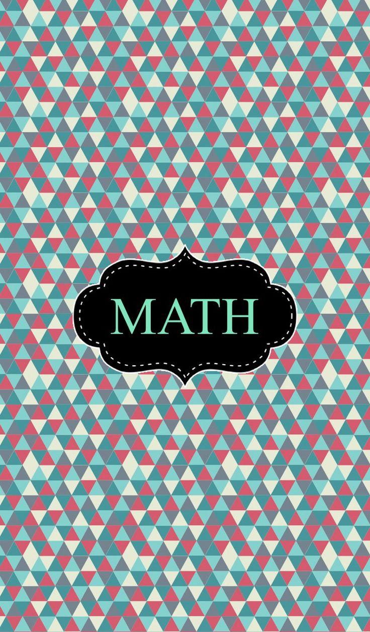 Cute Math Binder Covers Tribal math binder cover