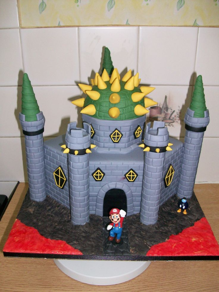 Super Mario Bros Bowser Castle Cake
