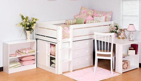 Raised Bed With Storage Underneath Kids Pinterest