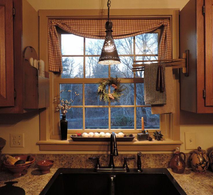 1000 images about primitive decor on pinterest primitives primitive kitchen and dry sink - Country kitchen windows ...