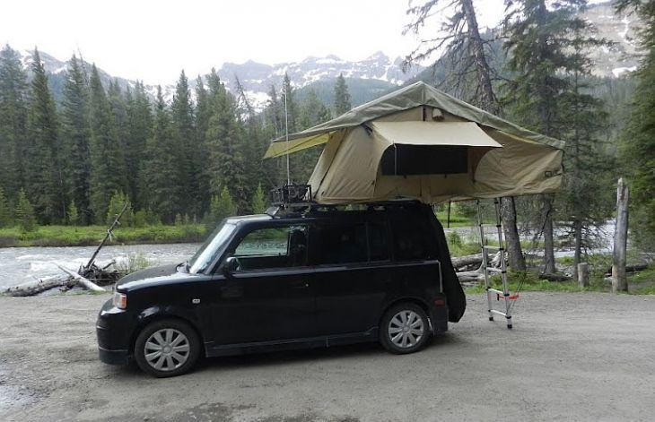 Scion Xb Roof Top Tent Toyota Imports Pinterest