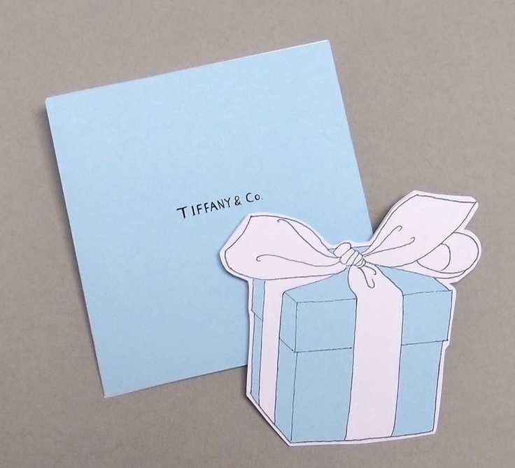 Tiffany box note card with envelop. $4.50, via Etsy.