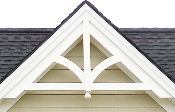 Decorative gable gp200 with finial addition home for Fypon gable trim