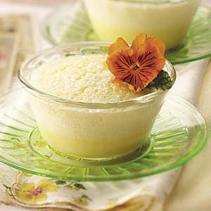 tangy lemon flavor and creamy texture, these pretty little souffles ...