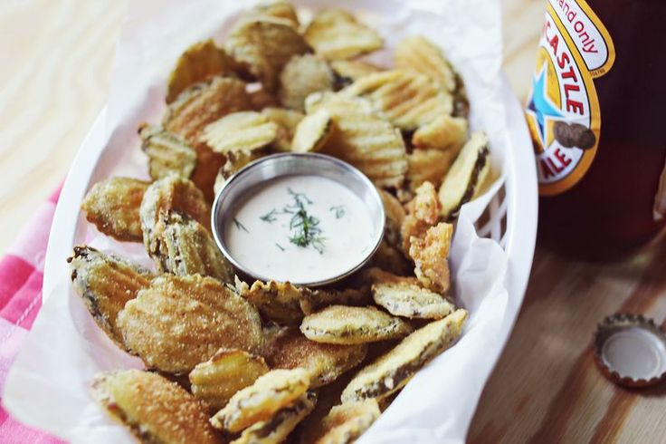 Fried Pickles + Spicy Dill Pickle Mayo | food i love or bake | Pinter ...