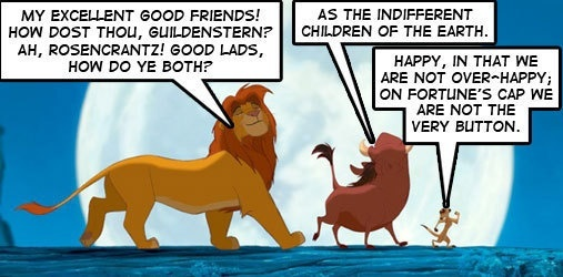 """hamlet and the lion king essay Free essay: similarities and differences between the lion king and hamlet as innocent and young the disney movie """"the lion king"""" may seem, it is, indeed ."""