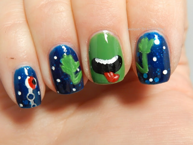 Don t panic hitchhiker s guide mani my nails pinterest