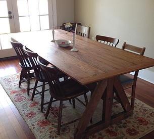 Dining Table Dark Wood Floors