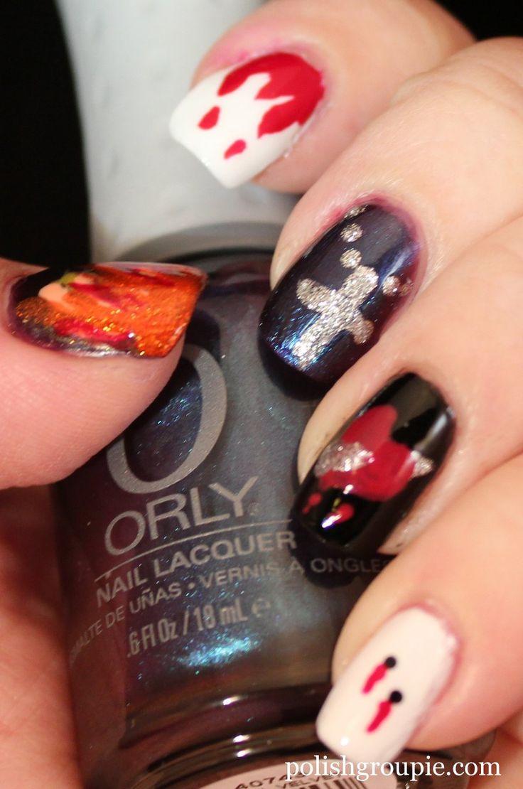 Vampire Nail Art | Halloween makeups | Pinterest