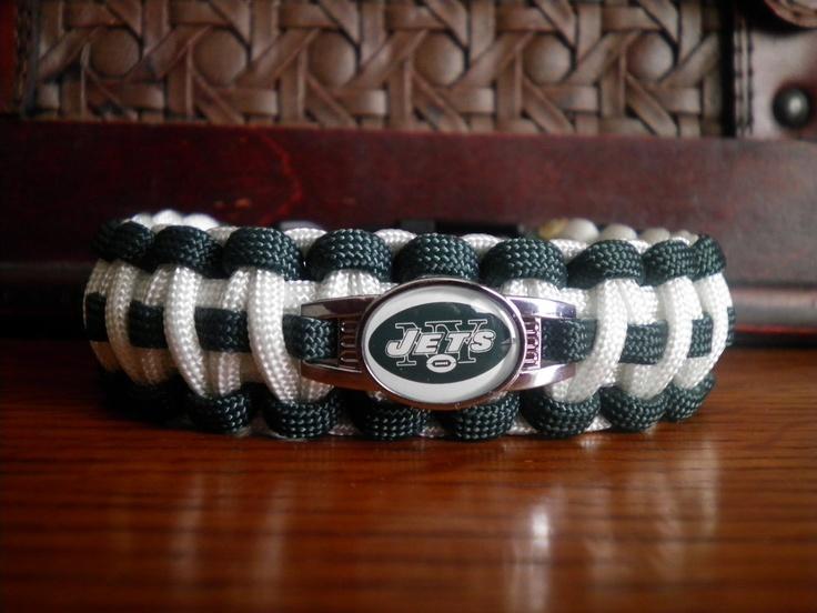 NFL football Paracord Bracelet New York Jets by duckhunter68, $16.95