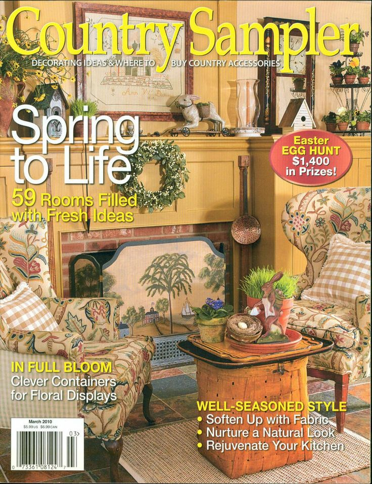 country sampler march 2010 magazine spring into life fresh