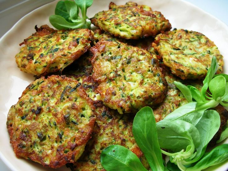 Turkish zucchini (Courgette) Fritters Flavored With Feta And Dill ...