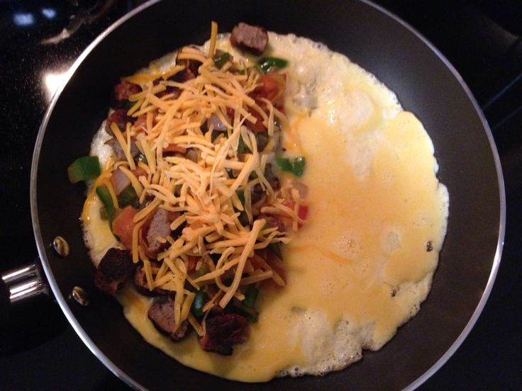 Southwestern omelet with sausage | Breakfast For Dinner | Pinterest