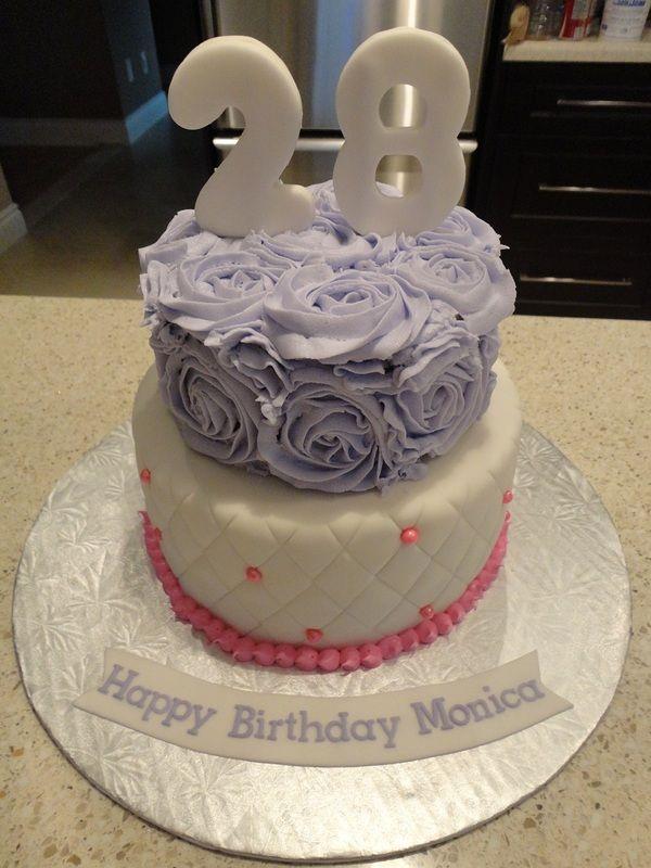 Rosetta Style Birthday Cake Edible Bliss Cakes Pinterest