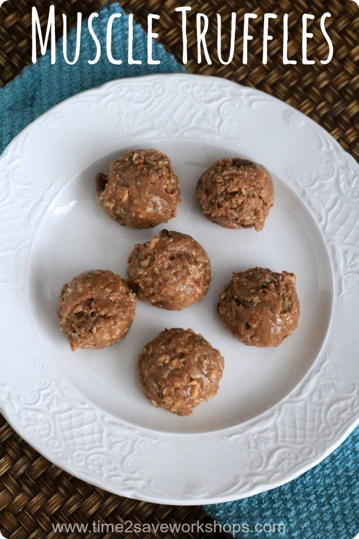 Muscle Truffles: Protein Packed Snack Idea on www.time2saveworkshops.com #advocare #snacks #recipe