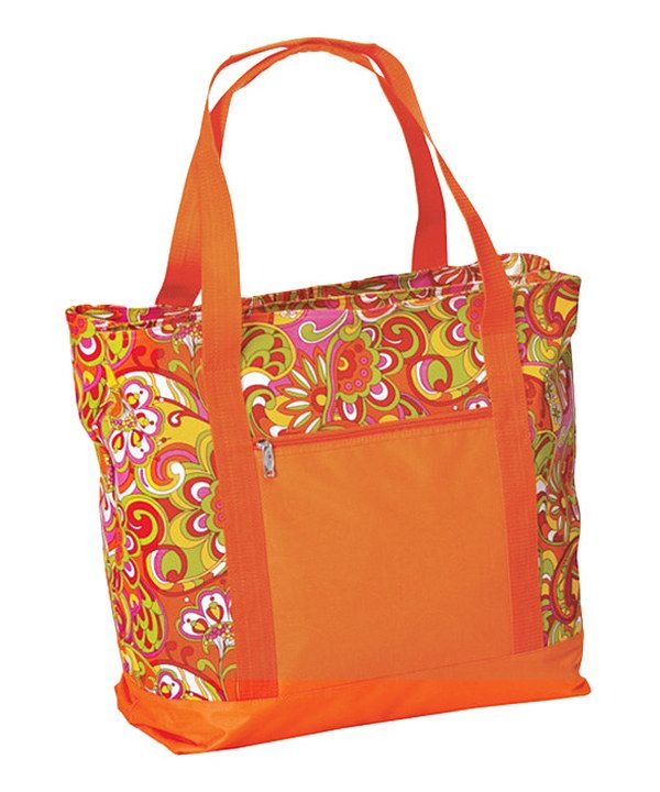 Another great find on #zulily! Orange Paisley Lido Two-in-One Cooler ...