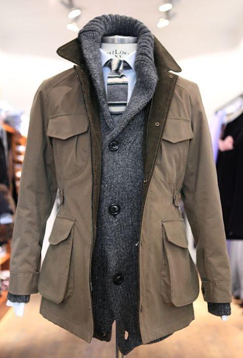 Cardigan + Jacket