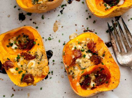 Roasted Maple Butternut Squash with Gorgonzola and Feta
