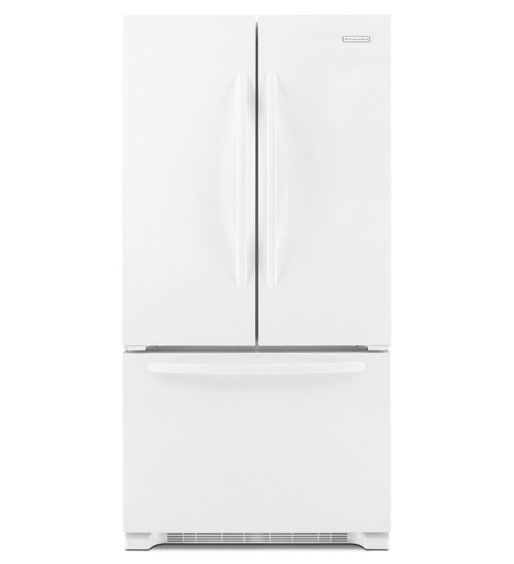 Kitchenaid 22 Cu Ft Counter Depth French Door Refrigerator Architect Series Ii Kfcs22evwh
