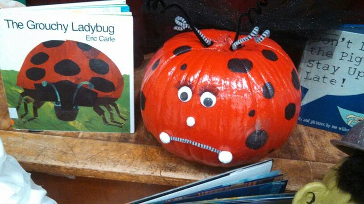 The Grouchy Ladybug: pumpkin book characters