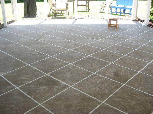 Naptime DIY Patio Concrete Stain Front Porch
