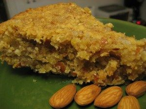 for a vegan polenta cake recipe for ages. This one using bananas ...