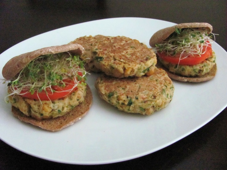 Chickpea Brown Rice Veggie Burger