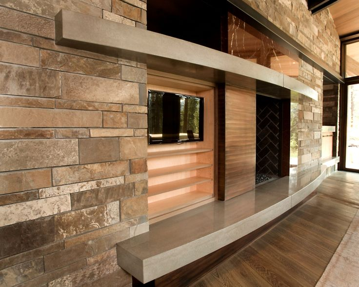Concrete hearth and mantle fireplace mantel pinterest for Concrete mantels and hearths