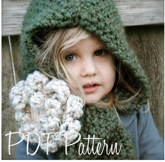 Knitting PATTERNThe Harper Hood Child Adult by Thevelvetacorn, $5.50