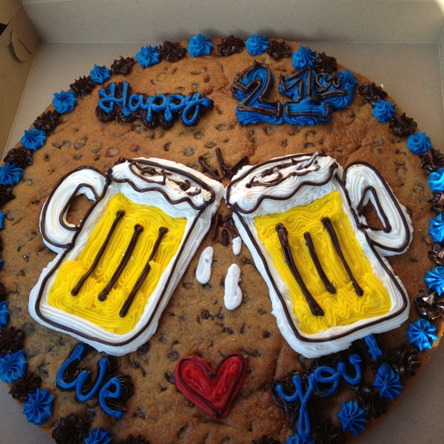Cookie Cake Designs For 21st Birthday : Trent s 21st Birthday cookie cake! :) Cookie Cakes ...