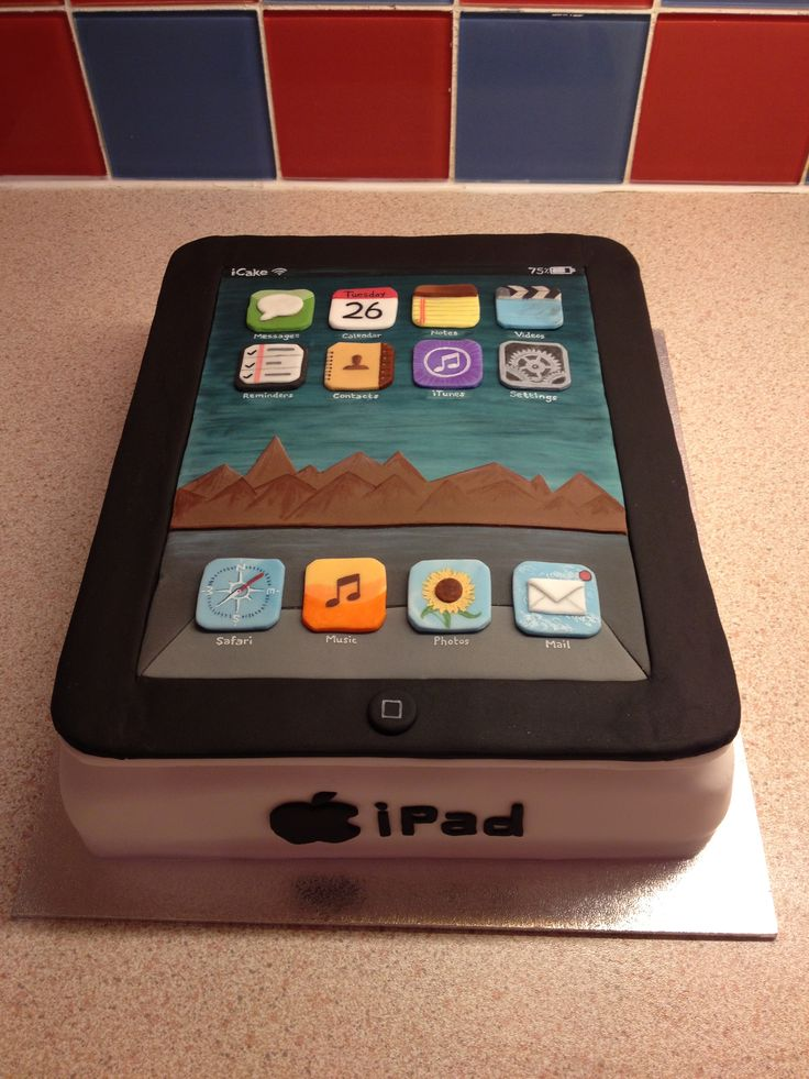Ipad cake my cakes pinterest for How to decorate my phone