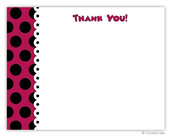 Minnie Mouse Thank You Notes | Birthdays | Pinterest
