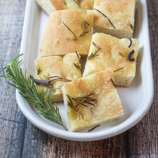 Rosemary and Onion Focaccia - so easy to make and a wonderful option ...