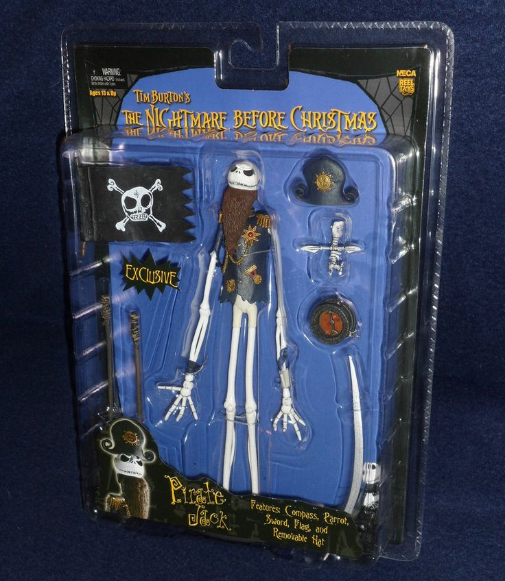 The Nightmare Before Christmas PIRATE JACK Action Figure NECA SDCC Ex ...