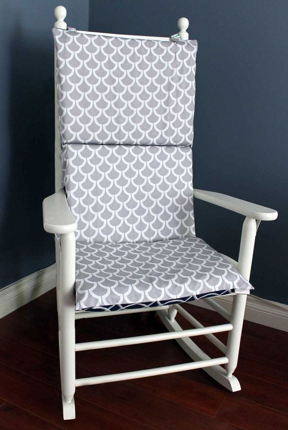 Rocking Chair Cushion Twilight Green Grey