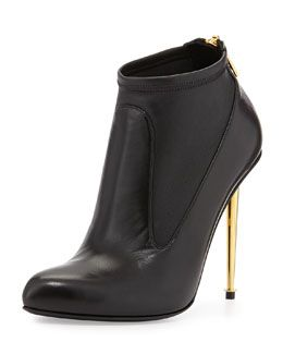 X27G5 Tom Ford Leather Stretch Zip-Back Bootie